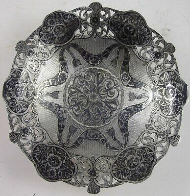 PERSIA, Early 20th century,TABRIZ, SILVER NIELLO FOOTED BOWL, GREAT WORKS OF ART
