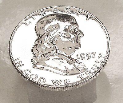 1957  Franklin   Choice  Proof   90%   Silver  >Coin  as  Pictured<  #1026  13