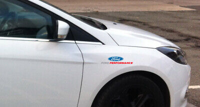 2 x FORD PERFORMANCE RACING LOGO Decal Sticker Badge Detail