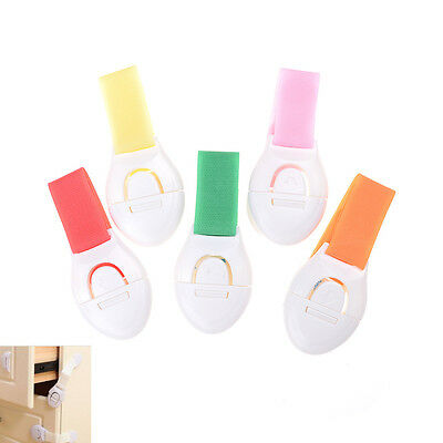 2Pcs Plastic Drawer Cabinet Locks Baby Safety Lock Protection For Children HD