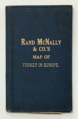 TURKEY IN EUROPE. Map. Rand McNally. 1892.