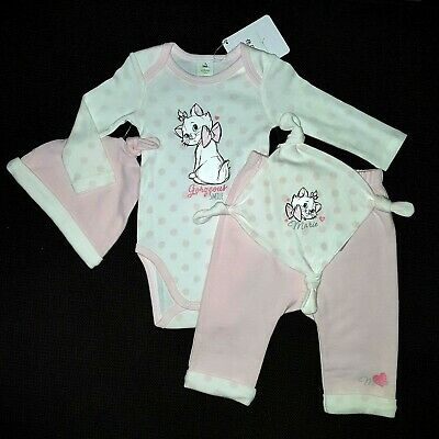 DISNEY BABY lot body pantalon bonnet doudou MARIE rose 0-1 / 3-6 ou 6-9 mois