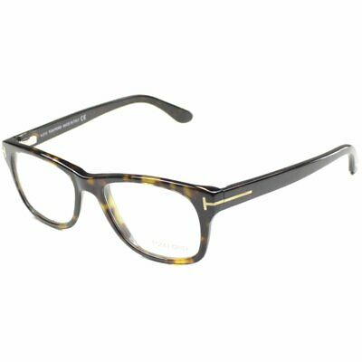 7317fb492f47 Tom Ford Unisex TF5147 FT5147 052 Dark Havana Rectangle Plastic Eyeglasses