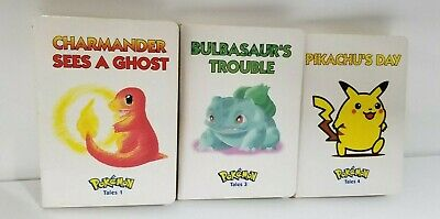 Pokemon Tales Volumes 1 3 4 LOT of 3 Pikachu's Day Out, Bulbasaur and Charmander