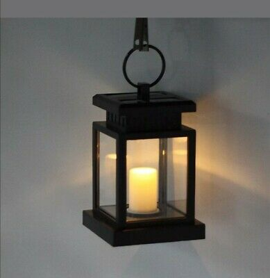 Solar Candle Cross Lantern - Bronze Light Table Garden