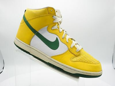 sports shoes e2c42 2e9d0 Nike Dunk High Brazil 317982-731 Size 14 M Yellow Leather Sneakers Mens  Shoes