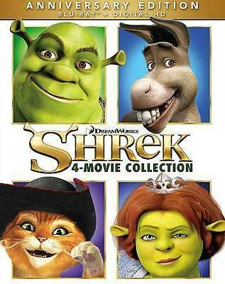 Shrek 4 Movie Collection Blu-ray New DVD! Ships Fast!
