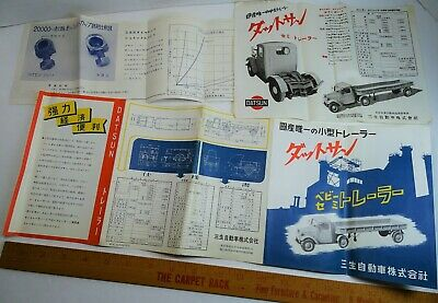 RARE Advertising Brochures Catalog & Flyers- Datsun Trucks Japan 1940s? Japanese