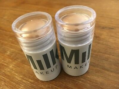 2 x MILK Makeup Highlighter in Lit Champagne Pearl 0.1oz / 3g Travel Size Stick