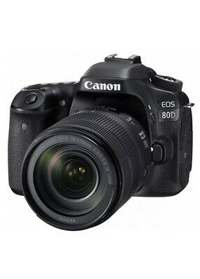 Canon EOS 80D DSLR Camera + EF-S 18-135mm f/3.5-5.6 IS USM Lens New! USA Model