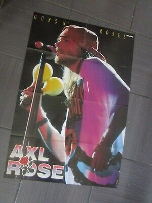 "GUNS N' ROSES ""AXL ROSE"" - ACE of BASE /BIG Double-Sided  ""BRAVO"" Poster 56 x 80"