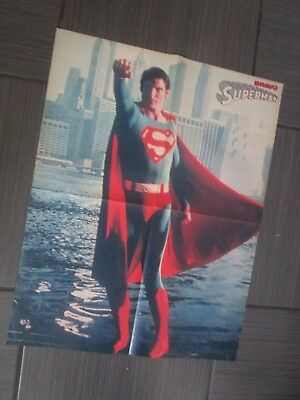 "CHRISTOPHER REEVE ""Superman"" - SHAUN CASSIDY / BIG Double-Sided ""BRAVO""  Poster"