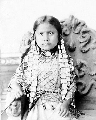 1885- Photo of Sitting Bull's Daughter- Standing Holy - Native American