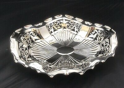 Hallmarked  Silver Oval Shaped Dish Bowl
