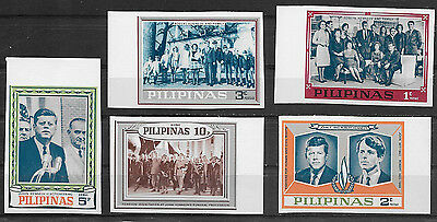 Philippines ,usa,1968, Kennedy , Set Of 5  Stamps , Imp , Mnh