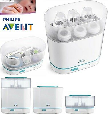 (END27/3) Philips Avent Baby Electric Steam Steriliser 3-in-1 Fits 6 Bottles