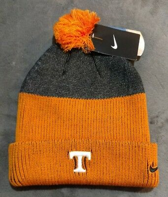 Nike Tennessee Vols New Day EMBROIDERED Sideline Cuffed Knit Beanie Pom Hat e2a2a9d139ea