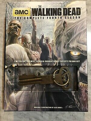 The Walking Dead Season 4 DVD Limited Edition With Prison Key