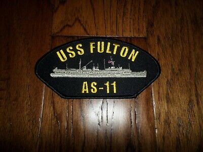 U.s Navy Ship Hat Patch. Uss Fulton As-11 Ship Patch U.s.a Made Submarine Tender