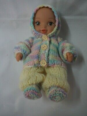 Hand knitted dolls clothes (Three piece Winter set), fit 26.5cm (10.5 inch) doll