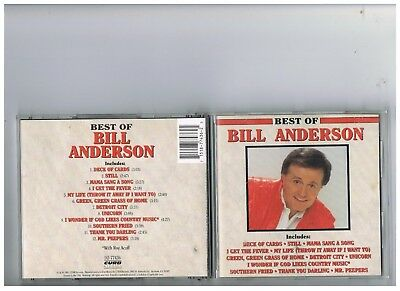 Bill Anderson Cd. Collection..the Very Best Of.greatest Hits.