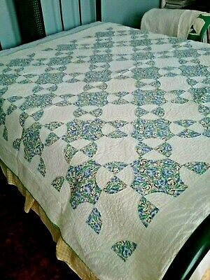 Antique SNOWBALL Quilt Pennsylvania Mennonite Mifflin County Patchwork 1930's