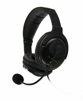 TekNmotion Yapster TM-YB100P Plus Stereo Headphones With Boom MicBlack