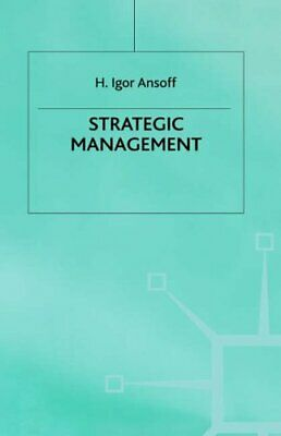 Strategic Managment - Ansoff by Ansoff Hardback Book The Cheap Fast Free Post