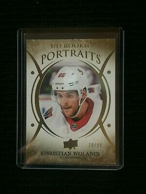 2018-19 Upper Deck Series 2 CHRISTIAN WOLANIN UD Rookie Portraits Gold 19/99