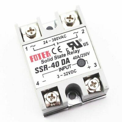 Newly Solid State Relay SSR-40DA 3V-32VDC 40A Output 24V-380VAC Module Contactor