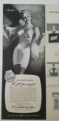 Symbol Of The Brand 1952 Womens Scandale By Tru Balance French Girdle Morrow Art Ad Advertising-print
