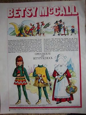 1970 Betsy McCall Paper Doll Paperdolls Open House at School Ad