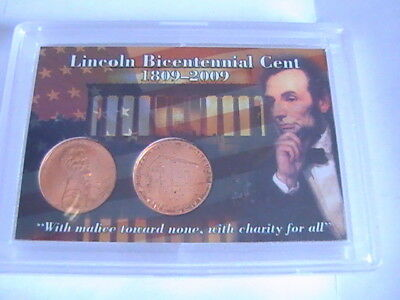 US 2009 D & P Lincoln Log Cabin Penny UNCIRCULATED BICENTENNIAL CENT WHITMAN