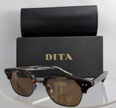 38a0c45b28 Brand New Authentic Dita Sunglasses Statesman Two DRX 2051 E Brown Silver  Frame