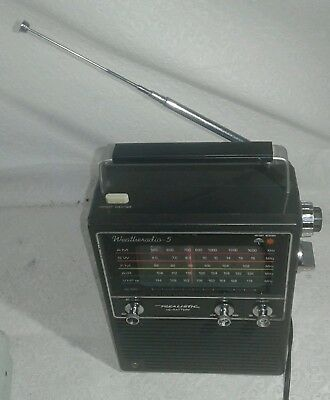 "realistic 5 band radio with instant weather button on top model 12-755 ""rare"""