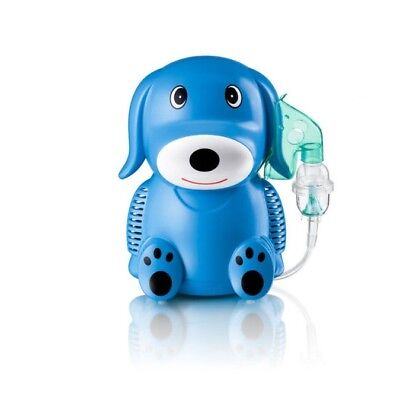 Inhalator, Inhaleertoestel Aerosol therapie Puppy hond Blauw