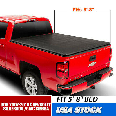 Tonneau Cover Soft Tri Fold for Chevy GMC Sierra Silverado Pickup 5.75ft Bed New
