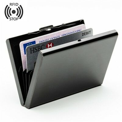 Hard Metal Wallet Stainless Steel RFID Blocking Credit Card Hold Protector Case