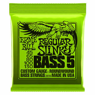 Ernie Ball 2836 Slinky 5-String Bass Guitar Strings .045-.130