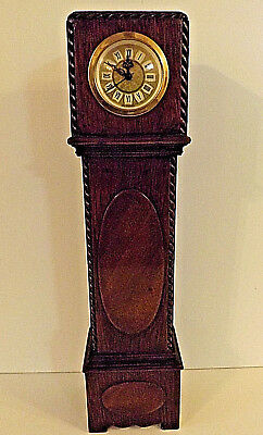 Vintage Miniature Meccedes German Grandfather Clock With Quatrz Movement