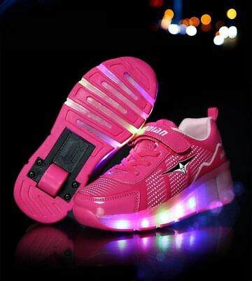 Boys Girls Luminous Children Glowing Shoes Roller Skate Sneakers with Wheels