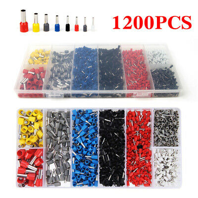 1200Pcs Insulated Cable Lugs Connector Terminal Wire Crimp Cord End Ferrules