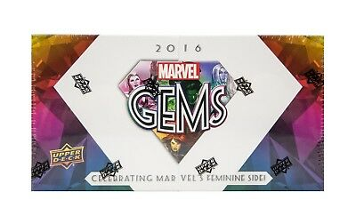 Upper Deck Marvel Gems Trading Cards Box Upper Deck 2016: 1 Exquisite Pack a box