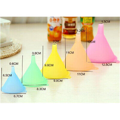 5Pcs/set Small Medium Large Variety Plastic Liquid Oil Funnel Kitchen Gadgets LG