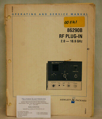 HP86290B RF Plug-In 2.0-18.6GHz Operating & Service Manual