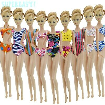 Random 5x Siwmsuits Bikini Swimwears Outfit Clothes For 12 IN. Doll Accessories
