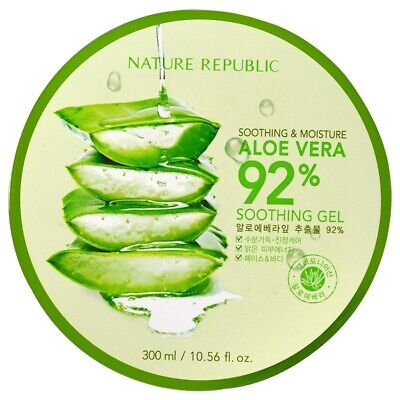 Aloe Vera 92% Organic Soothing Gel 300ml | Fast Absorption | Sunburn Skin Care