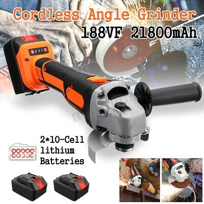 115mm Cordless Electric Angle Grinder Cutting Set 2x Li-ion Battery & Toolkit