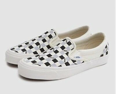 200a073b1ff1 VANS VAULT OG CLASSIC SLIP ON LX TRI CHECK 10 BLACK MARSHMALLOW old skool  fog 95