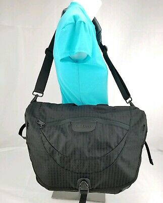 aef6ebcd2366 LL Bean Large Nylon Messenger Computer Shoulder Bag Black High Quality LL  Bean